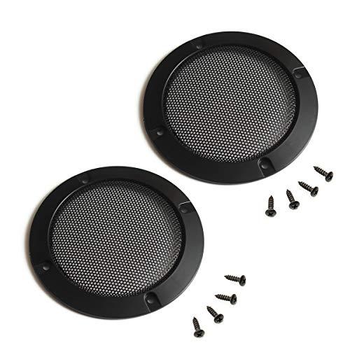 2 STK. Lautsprecher Abdeckung Grills Cover Case mit 8 STK. Schrauben für 5 Zoll Lautsprecher Montage Home Audio DIY - 4.88