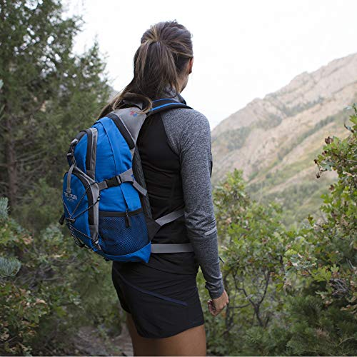 TETON Sports Oasis 1100 Hydration Pack; Free 2-Liter Hydration Bladder; For Backpacking, Hiking, Running, Cycling, and Climbing; Bright Blue