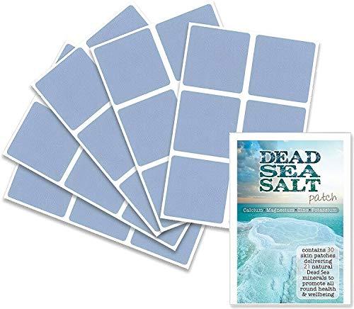 Totes Meer Salzpflaster (30 Pflaster) mit Mineralien aus dem Toten Meer zur Förderung der Entspannung, Entgiftung, Wohlbefinden und rundum guter Gesundheit