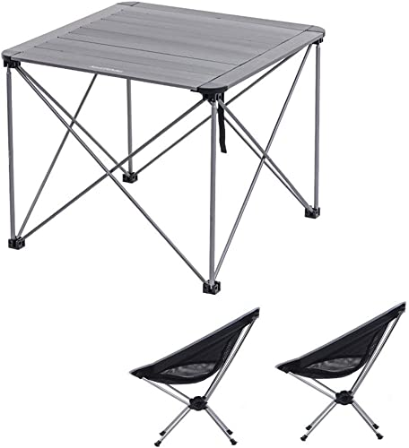 LPYMX Table de Camping Pliante et Chaise Ensemble de Meubles de Camping Pliables for Table de Pique-Nique Table de Pique-Nique Portable et Chaise