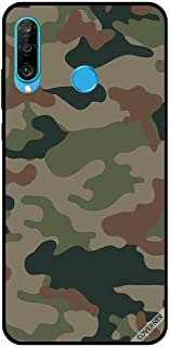 For Huawei P30 Lite Case Green & Brown Camouflage Pattern