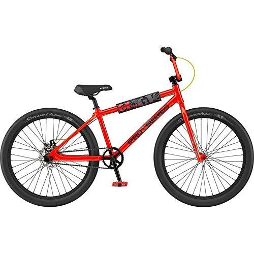 GT 26' Pro Series Heritage 2021 BMX Bike Fat Tyre Wheelie Red Stunt Bicycle