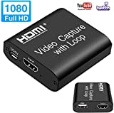 MOSOY Video HDMI Capture Card with Loop Out, 4K HD...