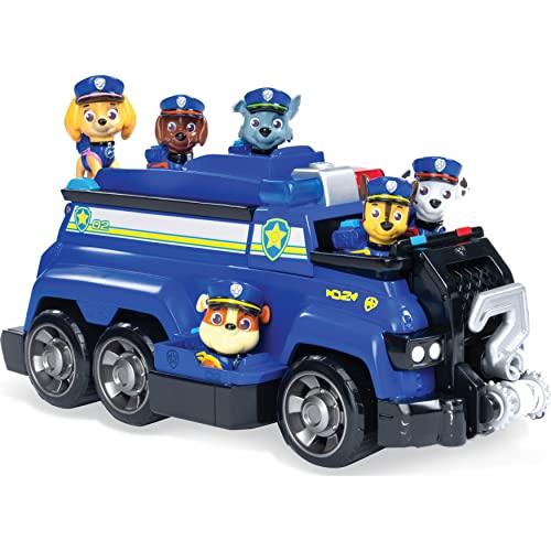 PAW Patrol Chases Total Team Rescue Polizeifahrzeug mit allen 6 Welpen