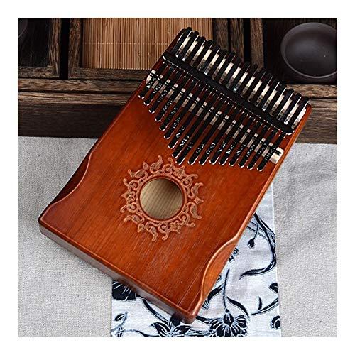 SADDPA Daumenklavier, 17 Tasten Schwarz Stilvolle Kalimba Daumenklavier Mahagoni Korpus Musikinstrument (Color : Coffee Glory)