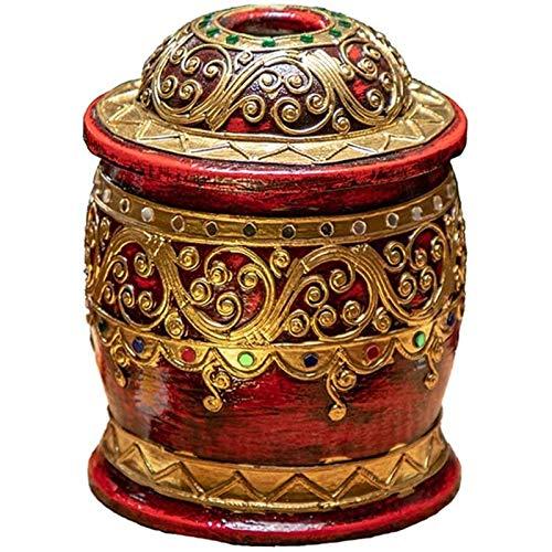 Kpcxdp Caja de Tejido, Tanque de Papel de Madera Maciza, Usado para Escritorio, decoración Creativa, Tubo de Papel, Circular, Sala de Estar, Oficina, hogar