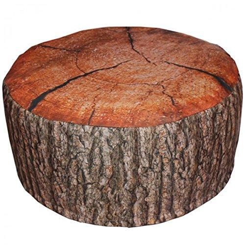 Viva Outdoor Pouf Eiche oder FICHTE Baumstamm aufblasbares Sitzkissen Rinde 55x25 cm, Variante:Eiche