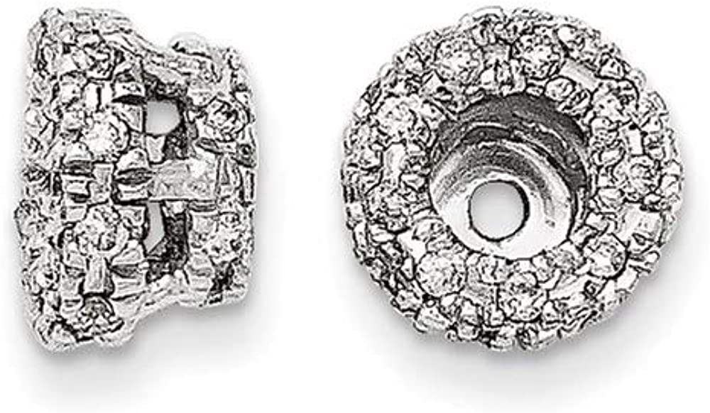 14k White Gold Diamond Earrings Jacket Fine Jewelry For Women Gifts For Her