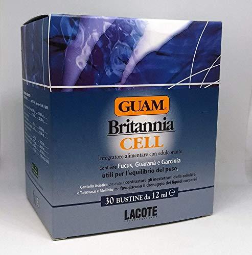 Guam - Britannia Cell Fucus Guarana Garcinia 30 Sachets da12ml Drainant Cellulite