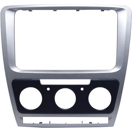 Almencla Auto Stereo Radio Blende Panel Rahmen Ersatz Für Skoda Octavia 2010 2013 Leichter Einbau Und Abbau Auto