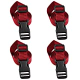 XTACER 1 Inch Molle Backpack Accessory Strap Luggage Straps Cover Strap Sleeping Bag Strap with Buckle (Red, 40.00)