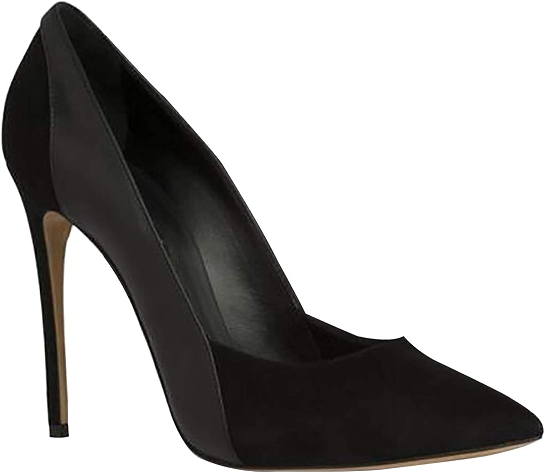 Calaier Womens Jtabk Pointed-Toe 12CM Stiletto Slip-on Pumps shoes