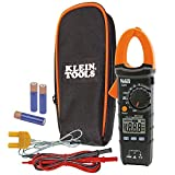 Klein Tools Digital Clamp Meter, AC Auto-Ranging with Temp