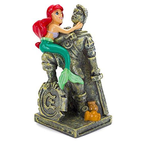 Penn Plax The Little Mermaid Ariel & Eric Statue Aquarium covid 19 (Mermaid Aquarium Ornament coronavirus)