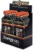 Crown Sport Nutrition 12 x Energy Gel + Cafeína (40g), Gel...