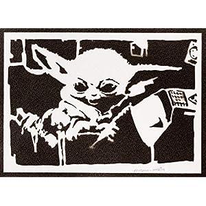 Baby Yoda Poster The Child Mandalorian STAR WARS Plakat Handmade Graffiti Street Art – Artwork
