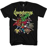 Goosebumps Mens Horror Mask Shirt Book List...