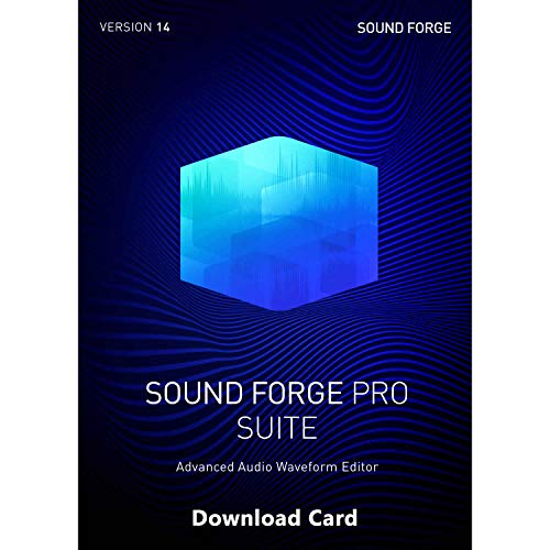 MAGIX Sound Forge Pro 14 Suite (Download Card) – Audio Recording, Editing and Mastering Professional Software