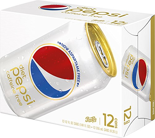 Pepsi Diet Caffeine Free Soda, 12 oz (12 Cans)