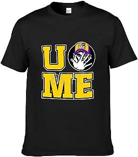 UME プロレスラー ジョン シナ ロゴ メンズ_看图王 カジュアルラウンドカラー軽量コットンメンズ夏半袖Tシャツ