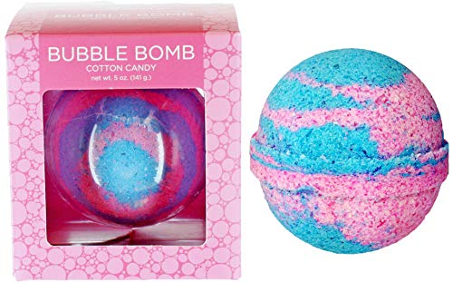 Bubble Bath Bomb by Two Sisters Spa. Large 99% Natural Fizzy for Women, Teens and Kids. Moisturizes Dry Sensitive Skin. Releases Color, Scent, and Bubbles. Handmade in USA (Cotton Candy)