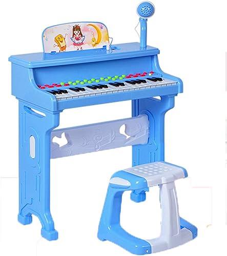 LIPENG-TOY Clavier Piano pour Enfants 1-3 Ans Fille Garçon Débutant Bébé éducation préscolaire Musique Jouet (Couleur   Bleu)