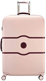 Trolley Case Scratchproof Travel Suitcase Premium Hardside Retro Luggage Brake Wheel Board Luggage with Built-in TSA Lock,Pink,20in