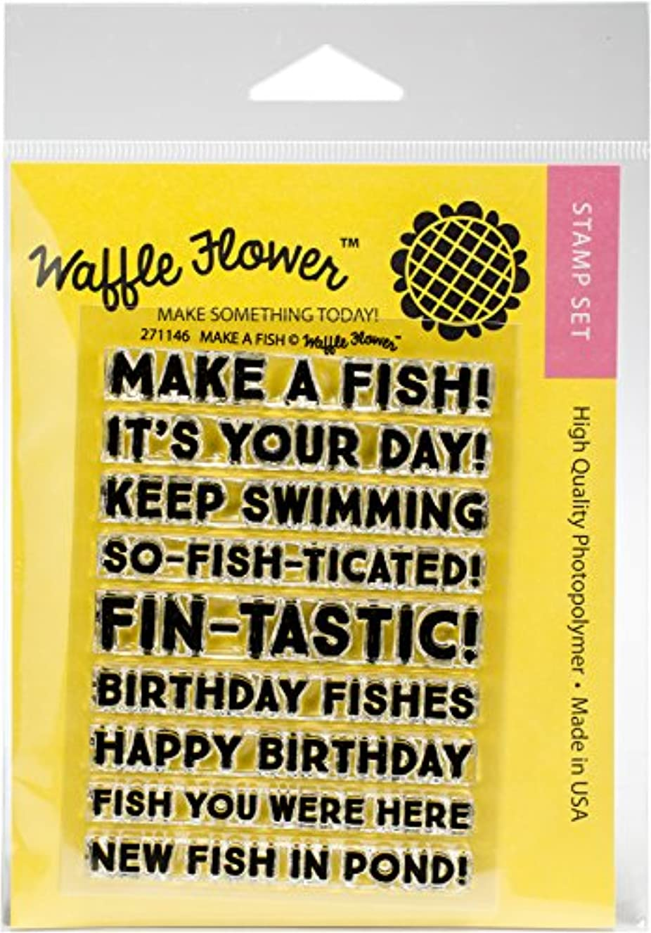 Waffle Flower Crafts Make A Fish Clear Stamps 3