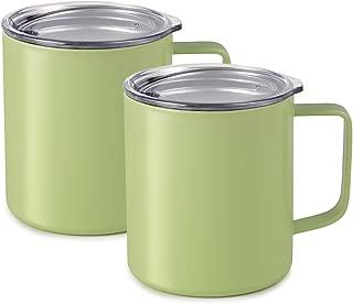 Maars Drinkware 79716-2PK Townie Stainless Steel Insulated Coffee Mug Double Wall Vacuum Sealed Tumbler-14 oz, 2 Pack, Matcha Green