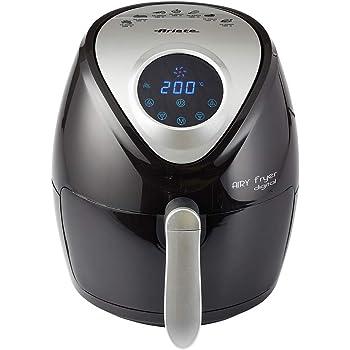 Ariete 4616 Freidora de aire digital, 1300 W, sin aceite, capacidad 2.6 litros, temporizador 60 minutos, temperatura hasta 200ºC, desconexión automática, color negro: Amazon.es: Hogar
