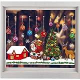 ShaSha Pegatinas Navidad para Ventanas Calcomanías Navidad Decoración de Decal Adorno Ventana Reutilizable Pegatinas Estáticas Copo de Nieve, para Puertas escaparates frentes de Vidrio (A52)
