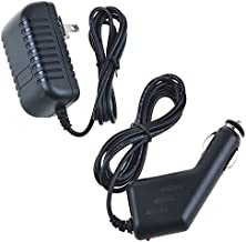 PK Power AC Adapter+Car Charger for Philips Jukebox HDD120/00 Player Power Supply Cord PSU