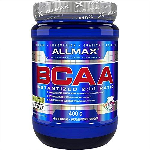 SPORTS NUTRITION SOURCE Allmax bcaa 2:1:1 aminozuren poeder gemicroniseerde vertakte kettingaminozuren 80 porties, per stuk verpakt (1 x 400 g)