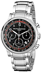 Baume & Mercier Men's MOA10062 Automatic Stainless Steel Black Dial Chronograph Watch image