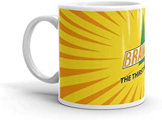 Full Brawndo logo. 11 Oz Ceramic Glossy Mugs With Easy Grip Handle, Give A Classic For Look And Feel. 11 Oz Ceramic Glossy Mugs Gift For Coffee Lover