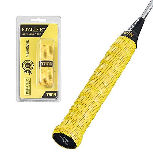 FJZLIFE Badminton-Griffband aus der Taan-Serie, bunt, perforiert, super saugfähig, ultra gepolstert, -Badminton-Griffband für Tennis, Squash, Baseball, Tischtennis, Fahrrad und mehr