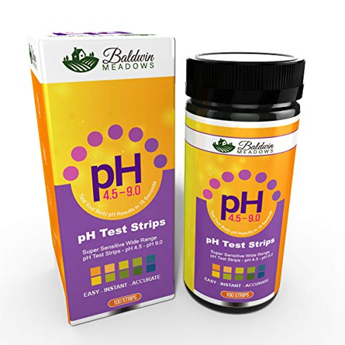 pH Test Strips for Urine & Saliva, Test Alkaline and Acid Levels in The Body. Easy-Instant-Accurate! 100 pH Testing Strips for Alkaline Diet Monitoring. -  Baldwin Meadows