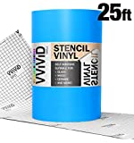 VViViD Blue Low-Tack Adhesive Vinyl Stencil Masking Film Roll (12' x 25ft)