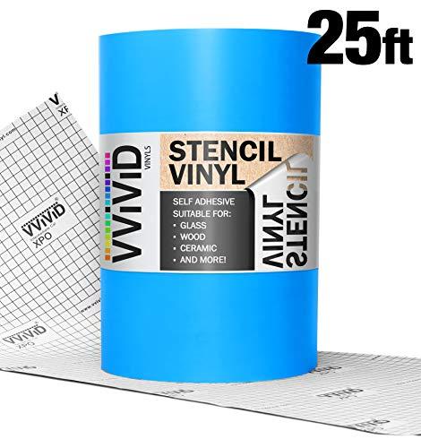 VViViD Blue Low-Tack Adhesive Vinyl Stencil Masking Film Roll (12' x 25ft)