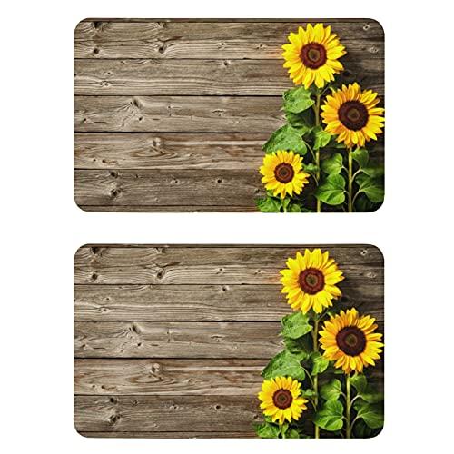 Naanle Wooden Sunflower Refrigerator Magnets Fridge Magnets Set of 2 Locker Magnets Dishwasher Magnet Sign Magnetic Plate for Home Kitchen Office Cabinets Washing Machine Decorative Magnets Gift