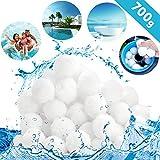 tillvex® Pool Filterbälle 700g | Filter für Sandfilteranlage | Ersetzen 25kg Filtersand | Extra langlebige Filter Balls für glasklares Wasser | Umweltfreundlicher Ersatz