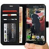 Abacus24-7 Coque Galaxy S7 Edge, Etui à Rabat en Cuir, Housse de Protection pour...