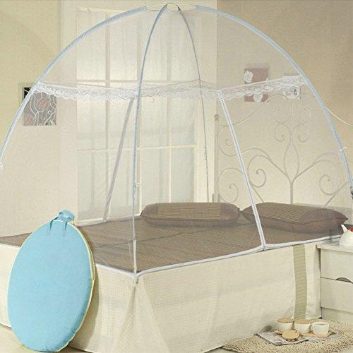 Mosquito Nets, dentelle Portable gratuit d'installation et de pliage filets Tente pop up Mosquito protection Lit double, lit simple pour adultes enfants et bébés empêcher les insectes les randonneurs et campeurs, idéal pour l'intérieur et l'extérieur