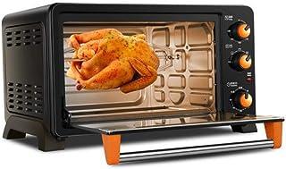 L.TSA Cocina Horno eléctrico multifunción horneado casero pequeño Horno Control de Temperatura Pastel