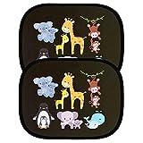 Tendine Parasole Auto Bambini Parasole Auto Universali Tendine Parasole Auto Finestrini Laterali Protezione da Raggi UV per Neonati Bambini e Animali Parasole Accessori Auto 2 Pcs 47x30cm