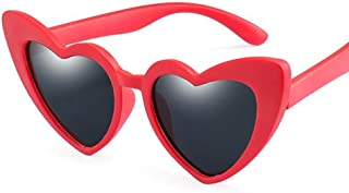 none_branded - Gafas de sol para niños polarizadas con forma de corazón None Brand, flexibles, color caramelo, suave