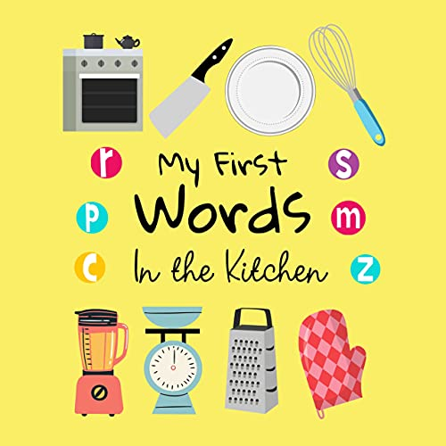 My First Words In The Kitchen: A Fun Learning Activity Game Book For Kids 1-3 Year Old's (English Edition)