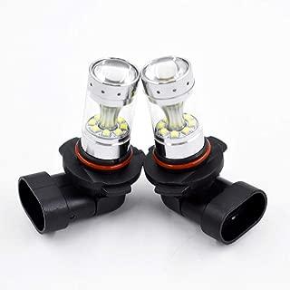 labwork 2pcs H10 9145 White 6000K 100W LED Bulbs Fog Lights Fit for Ford F150 02-16