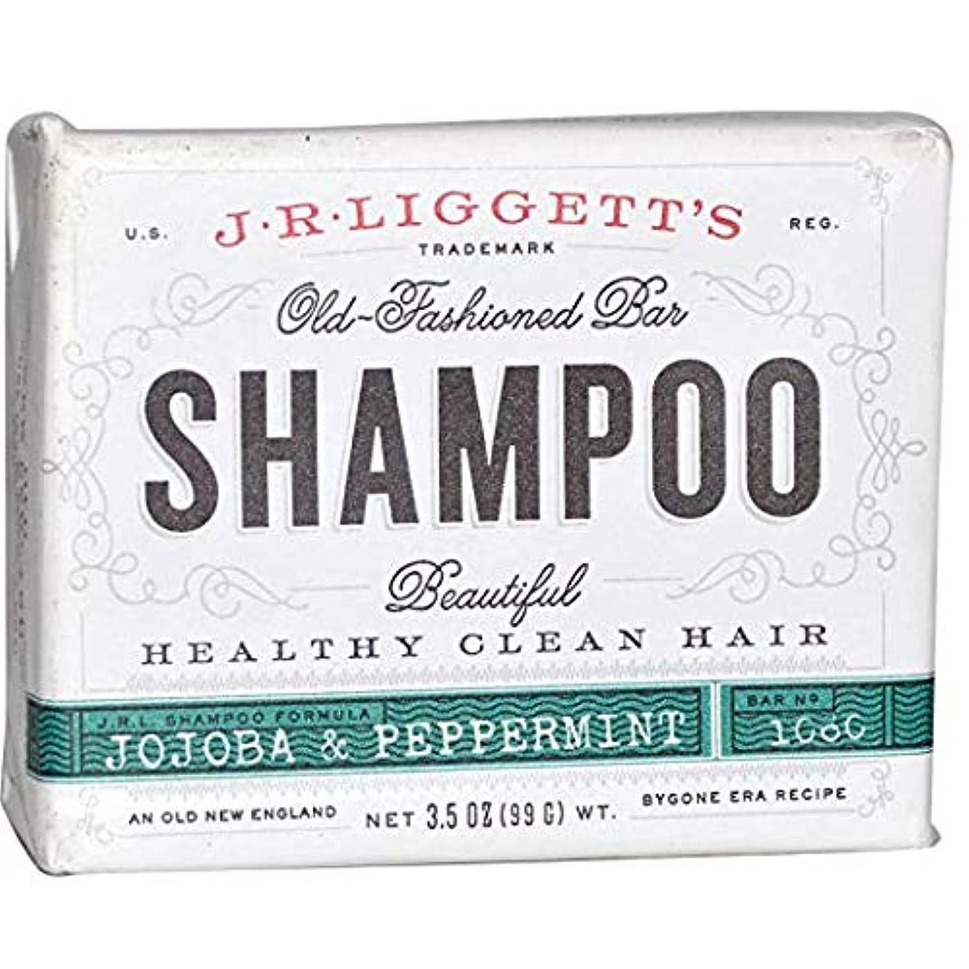 J.R. Liggett's ジェイアール リジェッツ ホホバ&ペパーミントさっぱり清潔 固形石鹸シャンプー 3.5 oz (99 g) [並行輸入品]