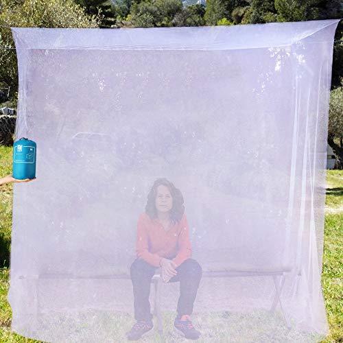 EVEN Naturals MOSQUITERA Premium para Cama Simple, Red contra Mosquitos con Kit de colocación, Bolsa de Viaje & e-Book, Cortina Rectangular de Malla, Protección Repelente contra Insectos, Mosquiteros